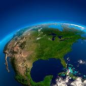 Ameryka północna, widok z satelity — Zdjęcie stockowe