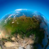 Asia, Far East, Siberia, the view from the satellites — Stock Photo