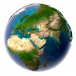 Royalty-Free Stock Photo: Realistic Planet Earth with natural water