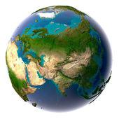 Realistischer Planetenerde mit natürlichem Wasser — Stockfoto