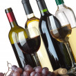 Royalty-Free Stock Photo: Bottles, glasses and grapes