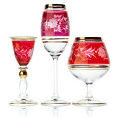 Set of three glasses — Stock Photo