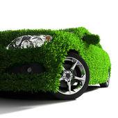 A metáfora do carro verde eco-friendly — Fotografia Stock