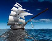 Sailing ship at sea — Stock Photo