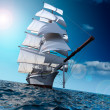 Sailing ship at sea — Stock Photo #4163619