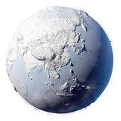Snö planetjorden — Stockfoto