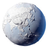 Sneeuw planeet aarde — Stockfoto
