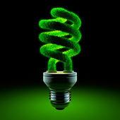 Lámpara de ahorro de energía verde — Foto de Stock