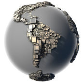 Metal Earth - the block structure — Stock Photo