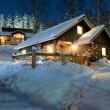 Cottage settlement in the New Year's Eve — Stock Photo #4497067