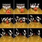 Orange ball does strike! — Stock Photo