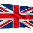 Flag of the United Kingdom, flying in the wind — Stock Photo