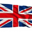 Royalty-Free Stock Photo: Flag of the United Kingdom, flying in the wind