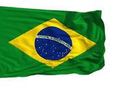 Flag of Brazil, fluttered in the wind — Stock Photo