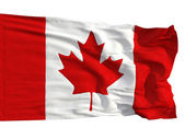 Flag of Canada, fluttered in the wind — Stock Photo