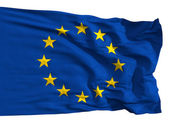 The European Union flag, fluttered in the wind — Stock Photo