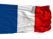 Flag of France, fluttered in the wind — Stock Photo
