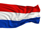Flag of the Netherlands, fluttering in the wind — Stock Photo