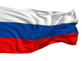 Russian flag, fluttering in the wind. — Stock Photo