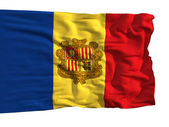 Flag of Andorra, fluttering in the wind — Foto de Stock
