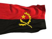 Bandeira de angola, tremulando ao vento — Fotografia Stock