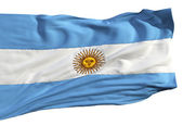 Flag of Argentina, fluttering in the wind — Stock Photo