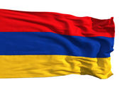 Armenian flag, fluttering in the wind — Stock Photo