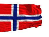Norwegian flag, fluttering in the wind — Stock Photo