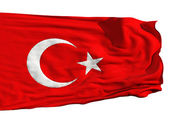 Turkish flag, fluttering in the wind — Stock Photo