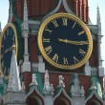 The Kremlin chiming clock — Stock Photo
