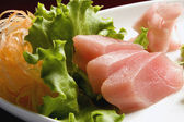 Sushi, carrots and lettuce — Stock Photo