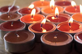 Christmas decoration candles — Stock Photo
