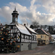 Stock Photo: Town Hall and Christmas tree