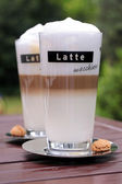 Latte Macchiato glasses — Stock Photo