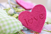 Colorful hearts for decoration — Stock Photo