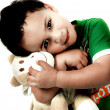 Child with Soft Toy — Stock Photo