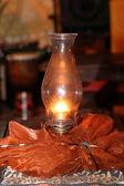 Warm glowing lantern — Stock Photo