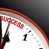Success clock — Stock Photo