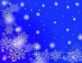 Snow flakes falling — Stock Photo
