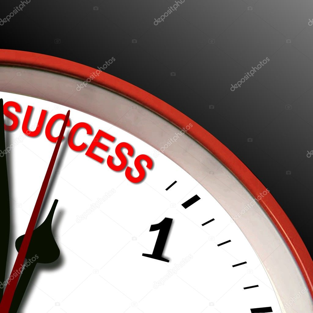 Success clock — Stock Photo #3973027