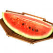 Stock Photo: Watermelon slice in bamboo fruit basket