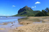 Le Morne Brabant mountain, as seen from Le Morne village — Stock Photo