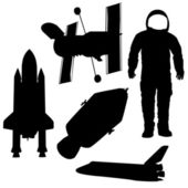 Objects in space vector — Stock Vector