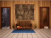 Sauna interior — Stock Photo