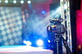 Camera near the podium — Stock Photo
