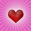 Heart on pink — Stock Photo