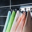 Hanging bright towels — Stock Photo #4869726