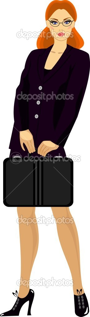 Businesswoman	woman in a business suit  — Stock Vector #4248766