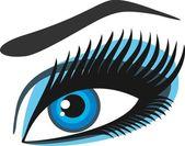 Mujeres; ojos s Azules — Vector de stock