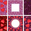Vettoriale Stock : Background with hearts